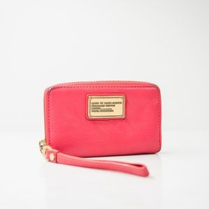 Marc Jacobs| Pink Genuine Leather Clutch Wallet